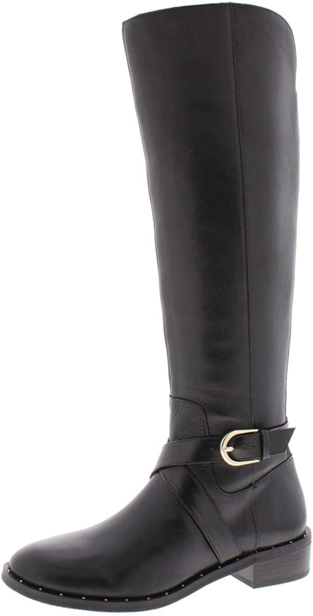 INC International Concepts Womens Fadora Boot Leather Round Toe, Black, Size 7.0