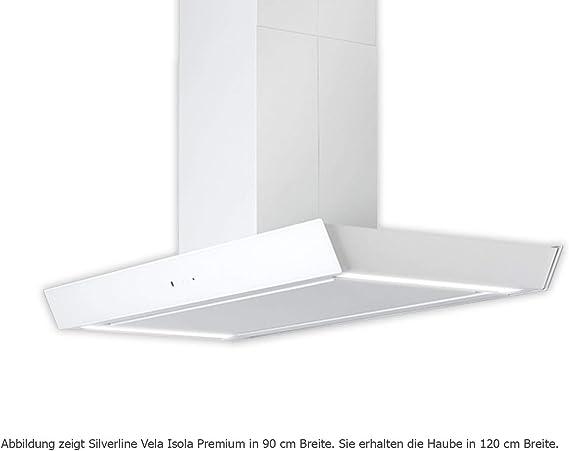 Silverline Vela Isola Premium VAI 194 W/Isla Campana/cristal/blanco/120 cm/A: Amazon.es: Grandes electrodomésticos