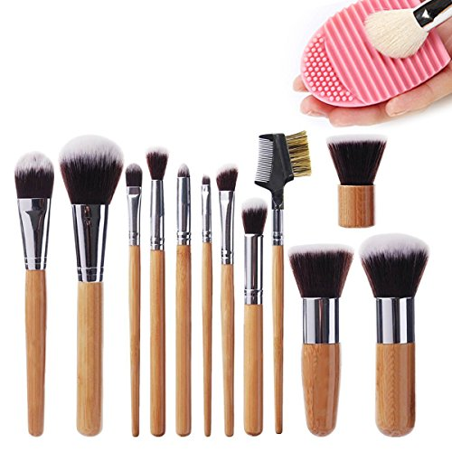 12pcs Makeup Brush Set+ Sponge (Pink+Rose Gold) - 9