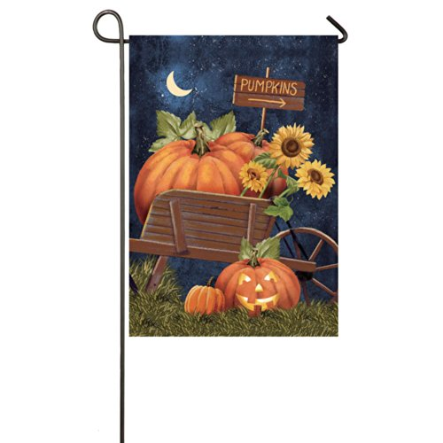 Gifted Living 14S3101FB Halloween Pumpkins Two Sided Garden