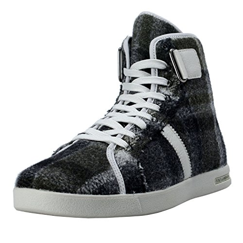 Dolce & Gabbana Men's Canvas Leather Hi Top Sneakers Shoes US 7 IT 6 EU 40 Grey