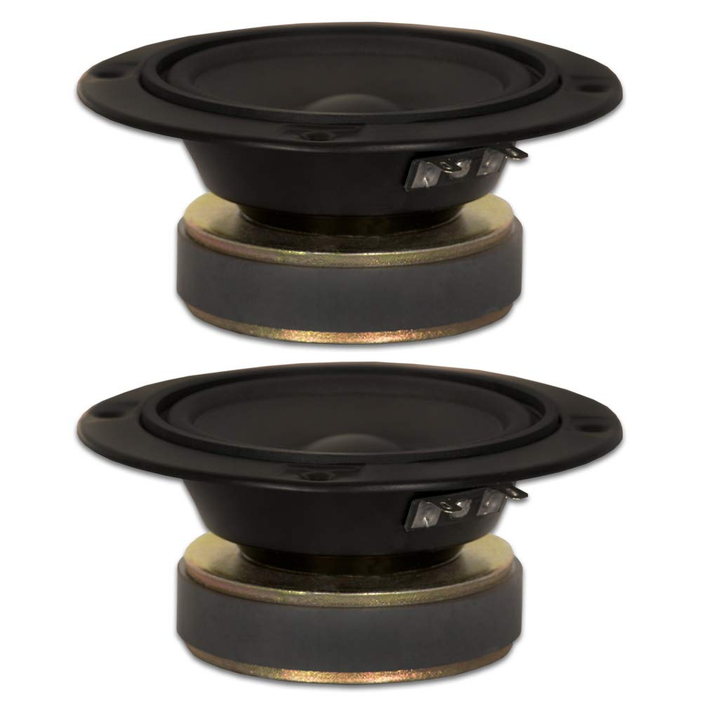 2 Goldwood Sound GM-85/4 Poly Mica 5 Midranges 120 Watt each 4ohm Replacement Mids Inc. GM-85/4-2