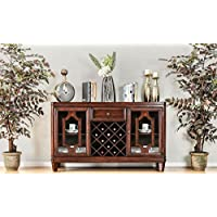 Furniture of America CM3875SV Stevensville Brown Cherry Server Dining Room Buffet