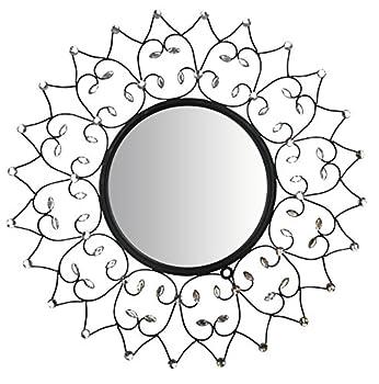 "Lulu Decor, Web Wall Mirror, Decorative Metal Wall Mirror, Frame Size 27"" (Mirror)"