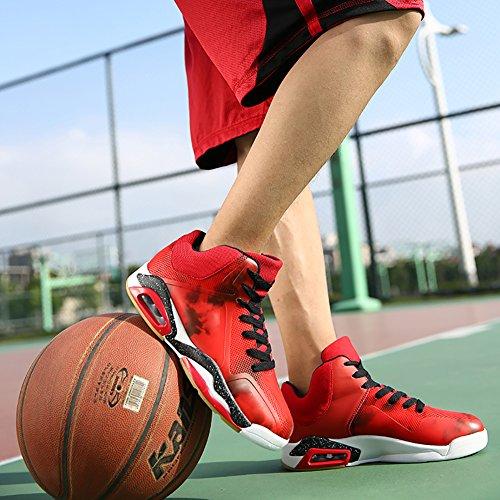 Cosdn Mens Cuscino Daria Da Corsa Scarpe Da Tennis Sneaker, Scarpe Da Basket Rosso