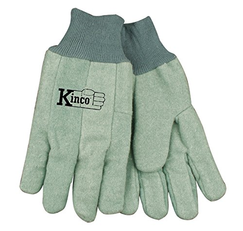 Leather Chore Glove (Kinco 035117818064 Chore Cotton Work Gloves Farm Construction, X-Large, Green, Single Pair)