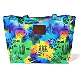 Hawaiian Tropical Print Everyday Tote Bag Large in POST CARD