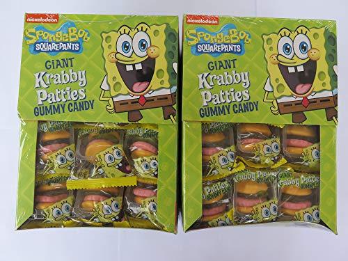 SpongeBob Squarepants Giant Gummy Krabby Patties 0.63 OZ (72 Count) From Candy World.]()