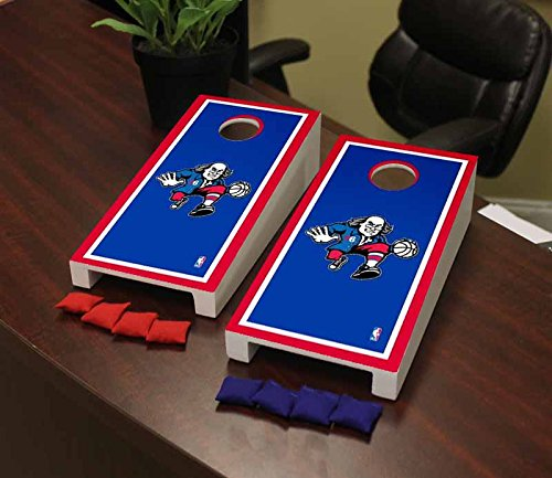 Victory Tailgate Philadelphia Sixers 76ers NBA Basketball Desktop Cornhole Game Set Border Version by Victory Tailgate