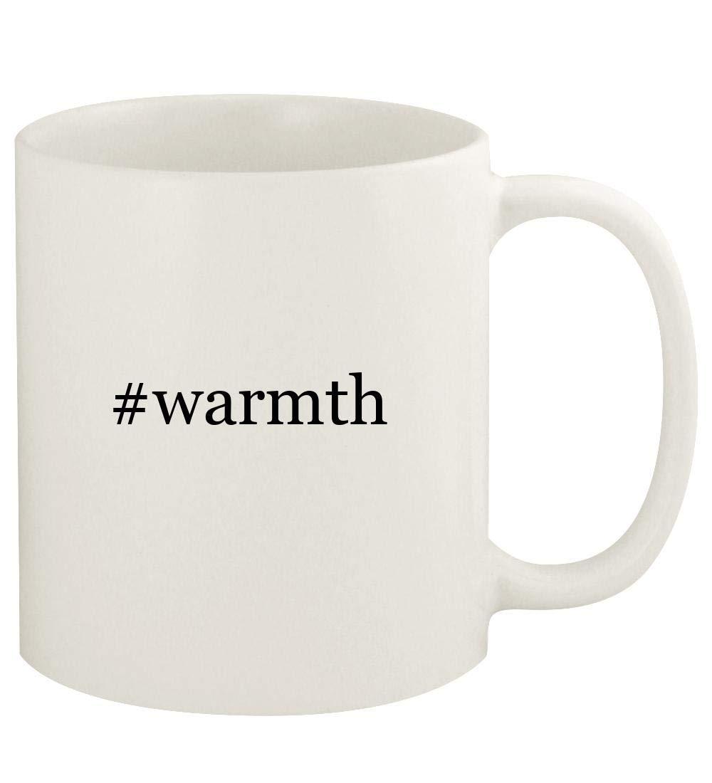 #warmth - 11oz Hashtag Ceramic White Coffee Mug Cup, White