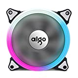 Aigo Aurora RGB LED 120mm  Case Fan High Performance High Airflow Adjustable Colorful PC CPU Computer Case Cooling Cooler( Single Fan)