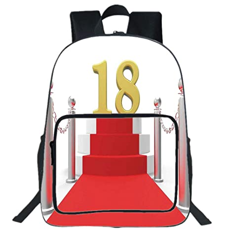 IPrint 19quot Large Casual Backpack18th Birthday DecorationHollywood Greeting For A 18