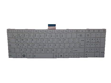 RTDpart - Teclado para Ordenador portátil Toshiba Satellite C850 C855 C855D MP-11B96A0-9301
