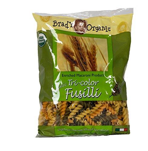 Brad's Organic Tri Color Fusilli, 16 Ounce (Pack of 20)
