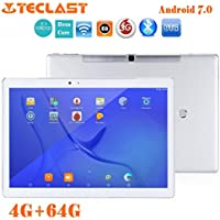 Teclast T10 Hexa Core 10.1 Inch Tablet PC Ounice 4GB 64GB Storage Android 7.0 Hexa Core WIFI Fingerprint OTG Tablet (Silver)