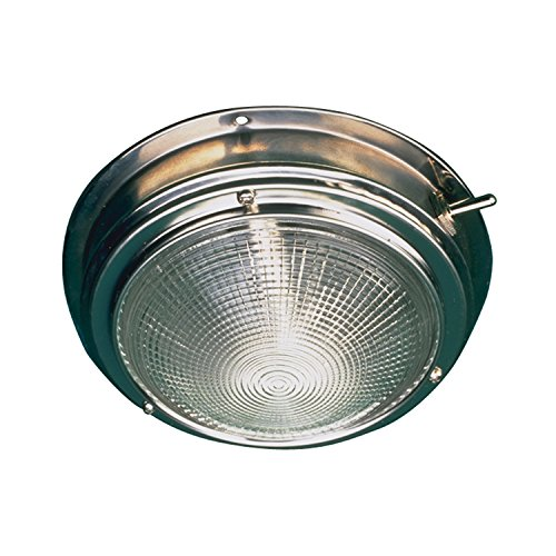 Sea Dog 400200-1 Stainless Steel Dome Light with 5-Inch Lens ()