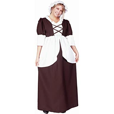 Adult Colonial Woman Halloween Costume  sc 1 st  Amazon.com & Amazon.com: Adult Colonial Woman Halloween Costume: Clothing