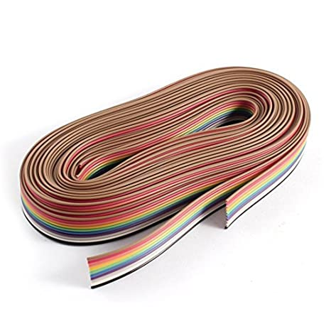 eDealMax 10 Pin de la cinta del cable de alambre de 1, 27 mm IDC 3Meter 2pcs color del arco iris - - Amazon.com