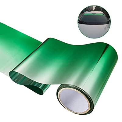 ATMOMO Green Gradual Color PreCut DIY Solar Tint Film for Car Windshield 7.8 Inch x 98 Feet: Automotive [5Bkhe0407174]