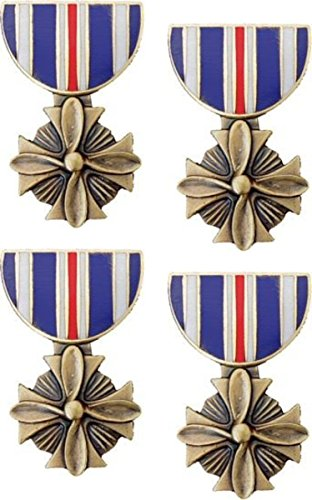 Military Distinguished Flying Cross Medal Hat Pin 4 Pack