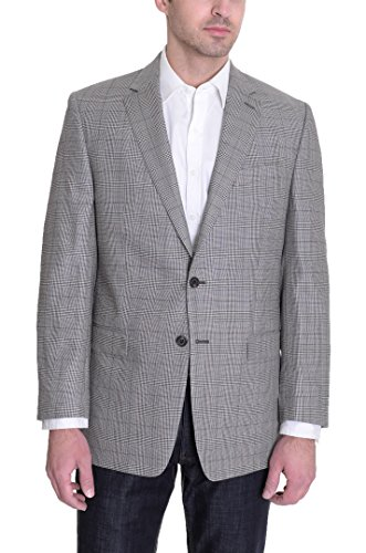 Ralph Lauren Classic Fit Tan Glen Plaid Wool Silk Blend (Plaid Wool Blend Blazer)