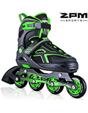 2PM SPORTS Torinx Orange/Red/Green Black Boys Adjustable Inline Skates, Fun Roller Blades for Kids, Beginner Roller Skates for Girls, Men and Ladies …
