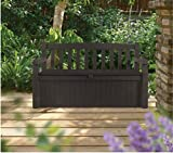 Patio Storage Bench Waterproof, 70 Gal All Weather Outdoor Patio Storage Bench Deck Box Brown & Free EBook by Stock4All