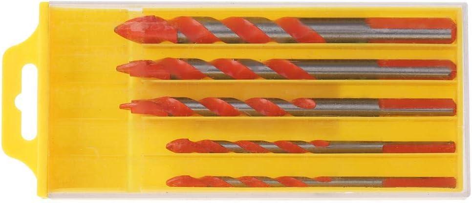 Tri/ángulo Mango Multifuncional Aleaci/ón Brocas Tri/ángulo V/ástago Broca Espiral Broca para Mano Taladro el/éctrico 6-12mm(5pcs