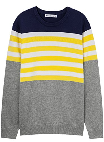 meters-bonwe-mens-round-neck-color-block-striped-pullover-knitted-sweater-yellow-l