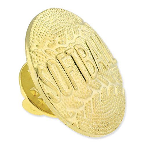 Softball Gold Chenille Sports Lapel Pin by JDS Industries (Image #1)