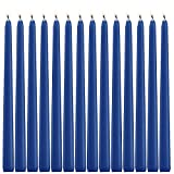 14 Royal Blue Taper Candles 12 Inch Tall 3/4 Inch Thick Burn 10 Hours (Color Is Core and Overdip )
