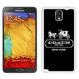 Coach Logo White Abstract Design Custom Samsung Galaxy Note 3 N9005 Case