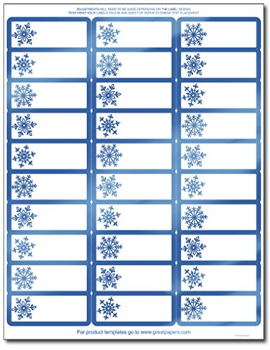 Great Papers! Blue Foil Snowflake Address Labels/Gift Tags - 120 Labels
