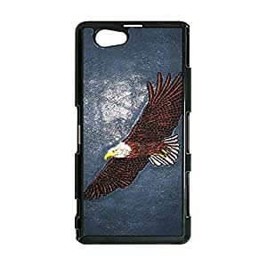 New Style Eagle Animal Face Phone Case Cover For Sony Xperia Z1 Compact/Z1 mini Animal Face Luxury Pattern