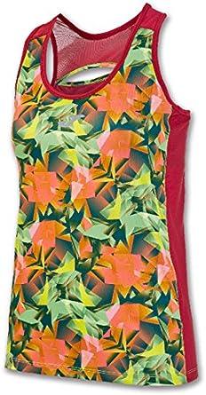TALLA L. Joma - Camiseta Tropical para Mujer, Color Rojo