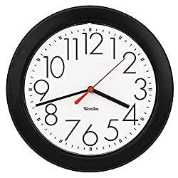 Westclox 461861 Basic Wall Clock, Black, 10,