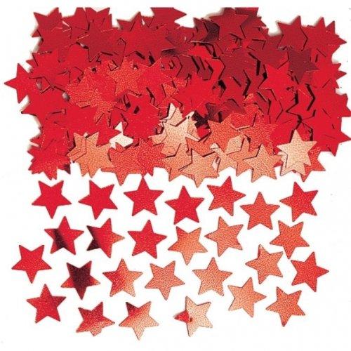 Amscan Star Confetti (Super Value Pack), 5 oz, Red