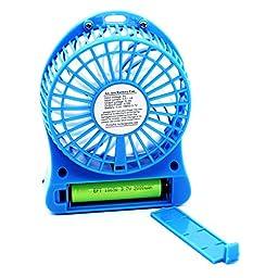 Mini Portable USB/Li-ion Battery Rechargeable Multifunctional Fan 3 Modes