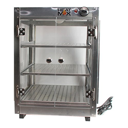 Commercial Food Pizza Pastry Warmer Countertop 18x18x24 Display Case by HeatMax