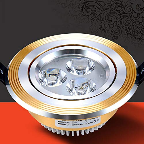 - Verlight Led Ceiling Cupboard Spotlight Living Room Ceiling Light Bull's Eye Lamp American European Gold and Silver LED Downlight 1W/3W Mini Partial Illumination Opening 5-5.8 Warm White Cool White