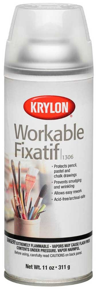 Krylon Workable Fixatif Clear Spray (11 oz) - 6 Pack