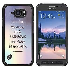 Stuss Case / Funda Carcasa protectora - Rainbows motivation - Samsung Galaxy S6Active Active G890A