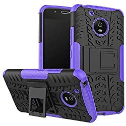 Moto G5 Case, Uzer Shockproof Hybrid Slim Dual Layer Rugged Rubber Hybrid Hardsoft Impact Armor Defender Full Body Protective Case Cover With Kickstand For Moto G5 2017 Model