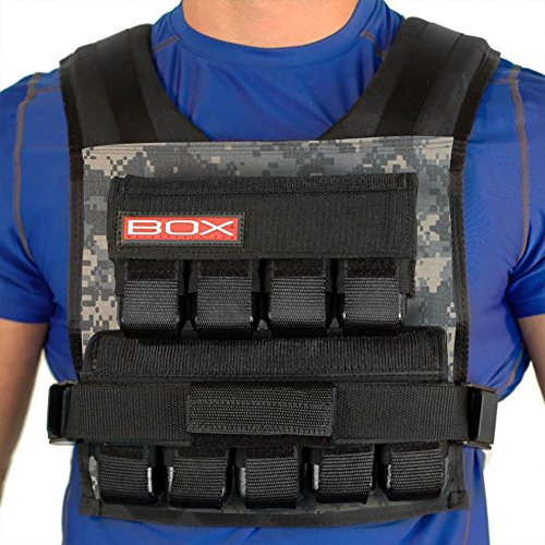 45 Lb. BOX Weighted Vest for CrossFit and Gym Bodyweight Training Made in USA