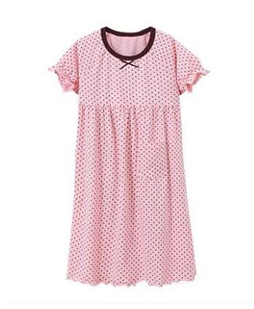 a7542bc3702d Amazon.com   Kids Summer Cotton Nightdress Girls Cute Nightgown  Pink     Baby