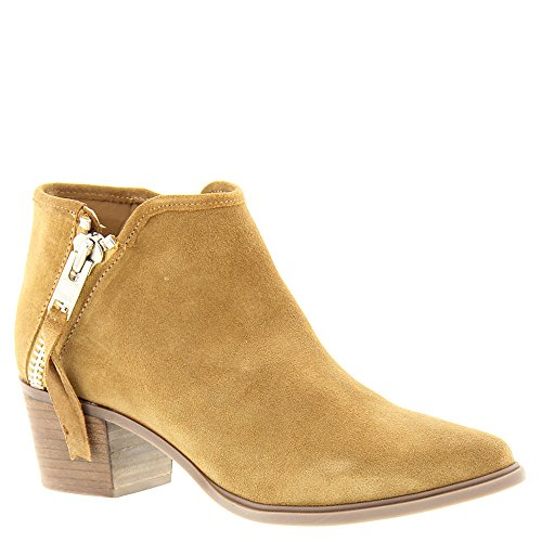 STEVEN by Steve Madden Women's Doris Ankle Bootie, Camel Suede, 7 M US (Camel Suede Ankle Boots For Women)