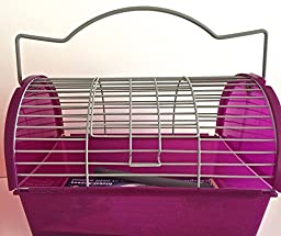 LARGE PURPLE TRAVEL CAGE FOR SMALL ANIMALS/SMALL BIRDS (12\