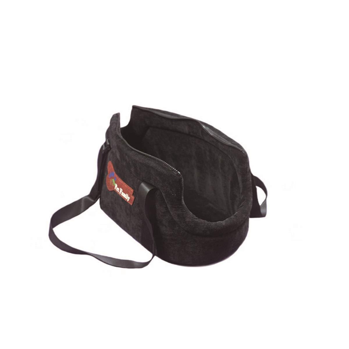 Black M Black M HENGTONGTONGXUN Pet Carrier, Cat Out Carrier, Carrying Bag, Red, Black, bluee, Light bluee, Green Bite resistant, wear resistant, washable (color   Black, Size   M)