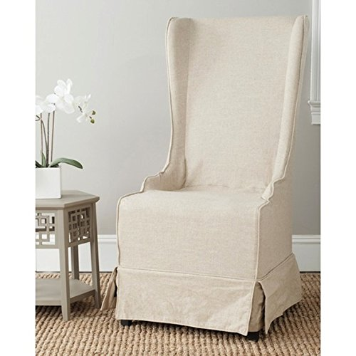 - Safavieh Deco Bacall Ivory Slip Cover Side Living Room Chair