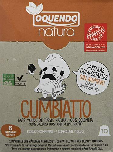 Natura Cumbiatto, Cápsulas de café (Compatibles con Nespresso) - 7 de 10 cápsulas (Total 70 cápsulas): Amazon.es: Alimentación y bebidas